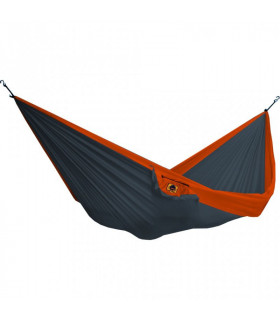 HAMAC SIMPLE BICOLORE GRIS FONCE/ORANGE