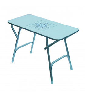 Table Pliante en Aluminium Satiné PM