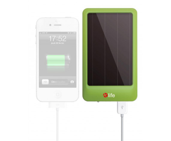 Chargeur solaire USB + lampe ipod - iphone